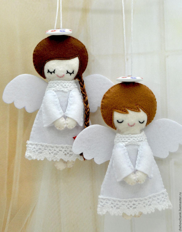 Ангелочек из фетра своими руками с выкройками фото 83