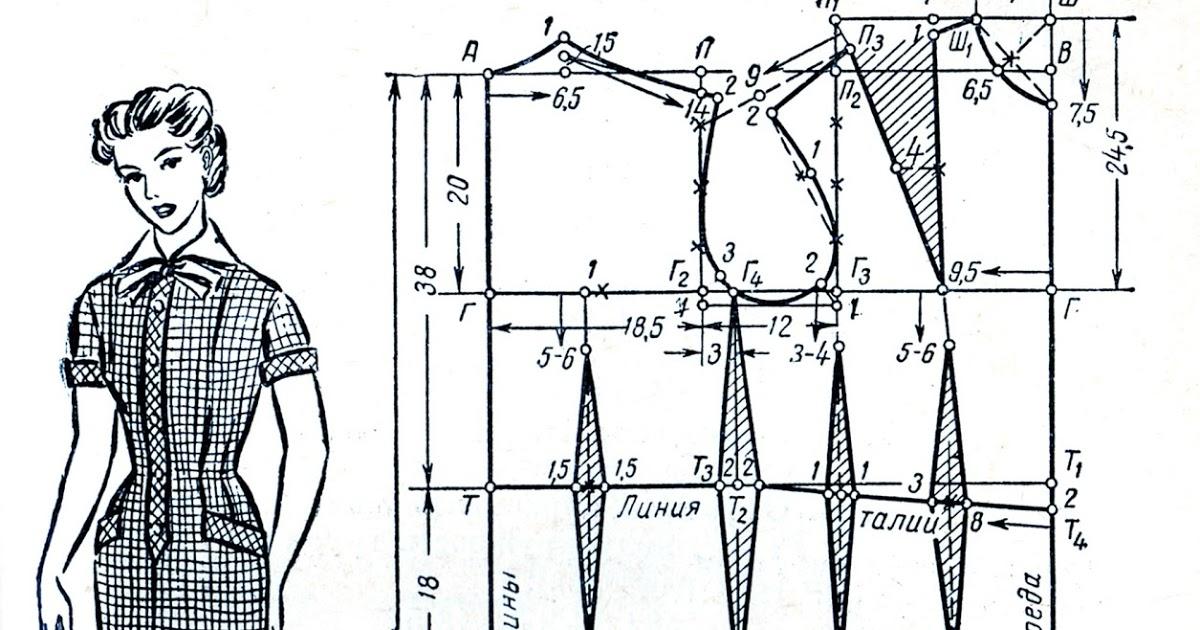 26ed98c1f0fb3e2 Построение выкройки основы платья и моделирование конструкции. Как сделать  выкройку основу для начинающих