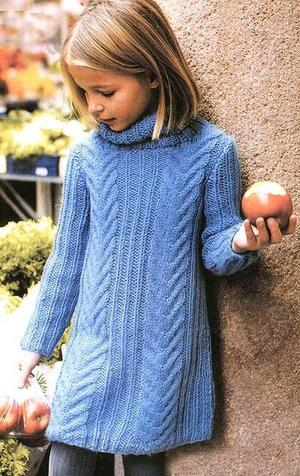 свитер для девочки как связать спицами теплую одежду для подростка