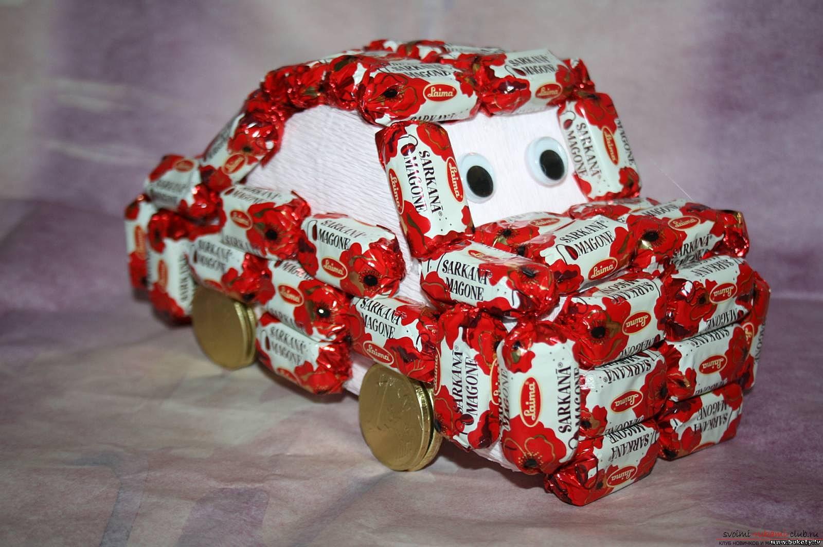 Тойота из конфет своими руками фото 272