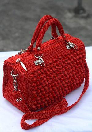 Вязаные крючком сумки: описание