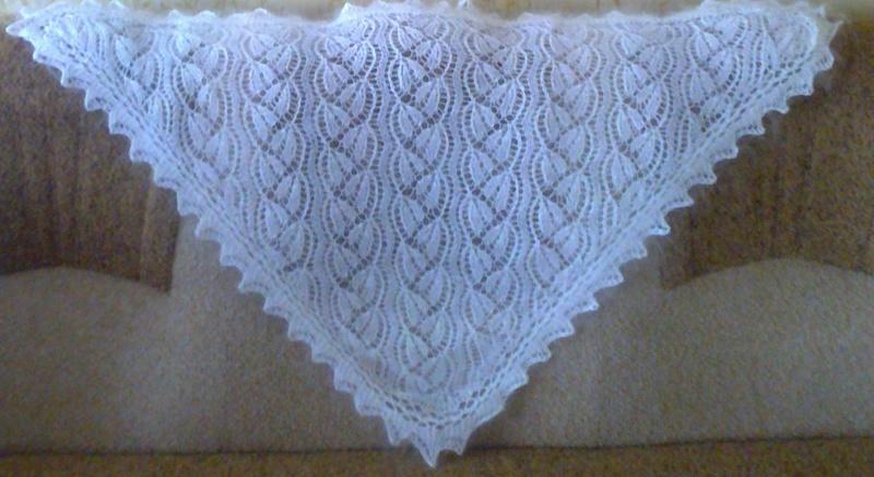 платок спицами история и современность оренбургская ажурная шаль