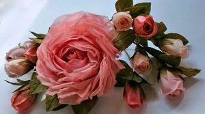 rozy_tkani_zamechatelnoe Цветы из подручных материалов своими руками – фото, мастер-класс