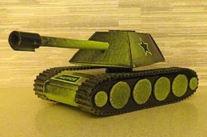 bumagi_sdelat_tank Как сделать танк из картона своими руками