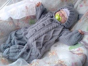 вязаный спицами костюм для новорожденного выкройки и пошаговое