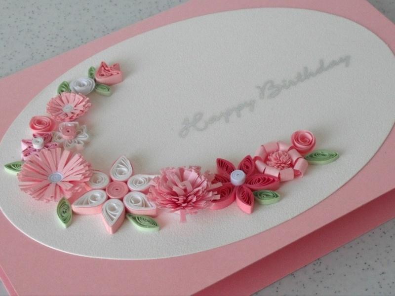 Квиллинг открытка с днем рождения маме своими руками, ангела лена