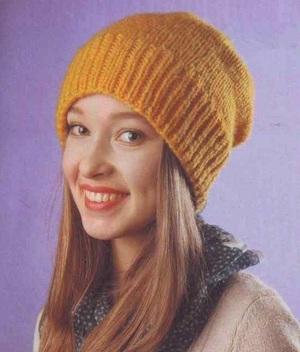 шапка из мохера спицами схемы вязания модных шапочек с отворотами и