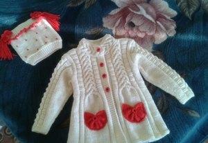 вязаное пальто для девочки спицами выбор фасона техника и схема