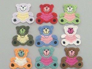 аппликации крючком схемы вязаных украшений для детской одежды
