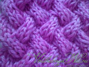 Узор спицами плетенка схема