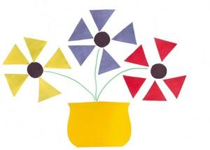 Открытка из геометрических фигур день учителя