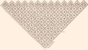 вязание косынки спицами как связать изделие по схеме для начинающих