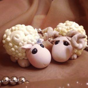 Овца из полимерной глины – своими руками