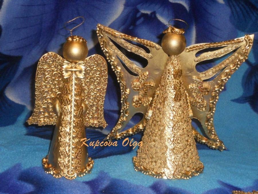 Ангелочки из макарон своими руками мастер класс