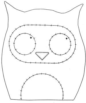 Выкройка для рукодельницы игрушки котик