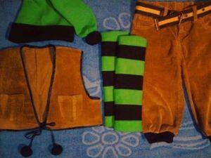 Короткие штанишки для костюма гнома
